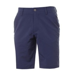 Under Armour Match Play Blue Tapered Golf Shorts